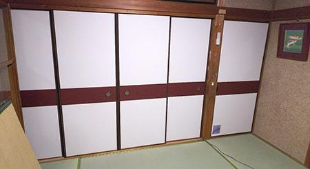 奈良市学園朝日元町ふすま張替え