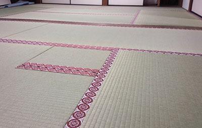 奈良市雑司町某寺院たたみ新調紋畳縁工事