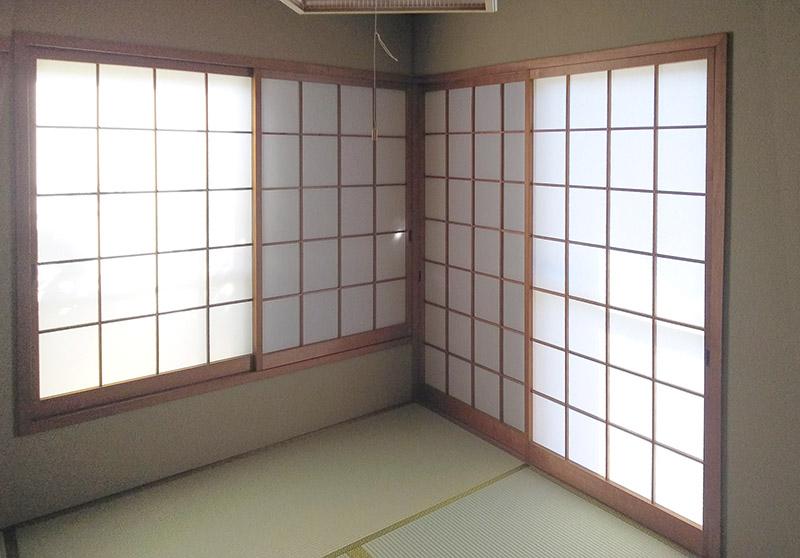 生駒市障子貼り替え畳屋の工事 中西たたみ店