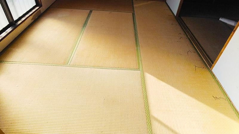 奈良市三条畳工事前の写真 中西たたみ店