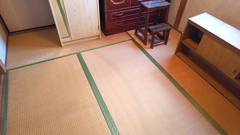 奈良畳替え前の写真 中西たたみ店