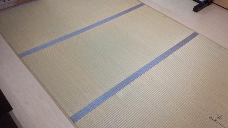 奈良市畳替え前の写真 中西畳店