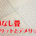 縁なし畳(半畳琉球畳)のメリットとデメリットについて解説
