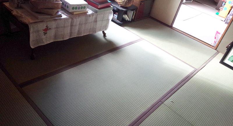 登美ヶ丘畳屋の工事の写真