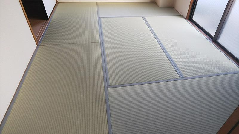 奈良市西大寺北空き室たたみ張替え工事