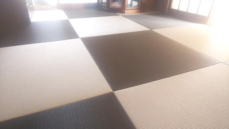 大和郡山市矢田山町縁無しカラー半畳工事