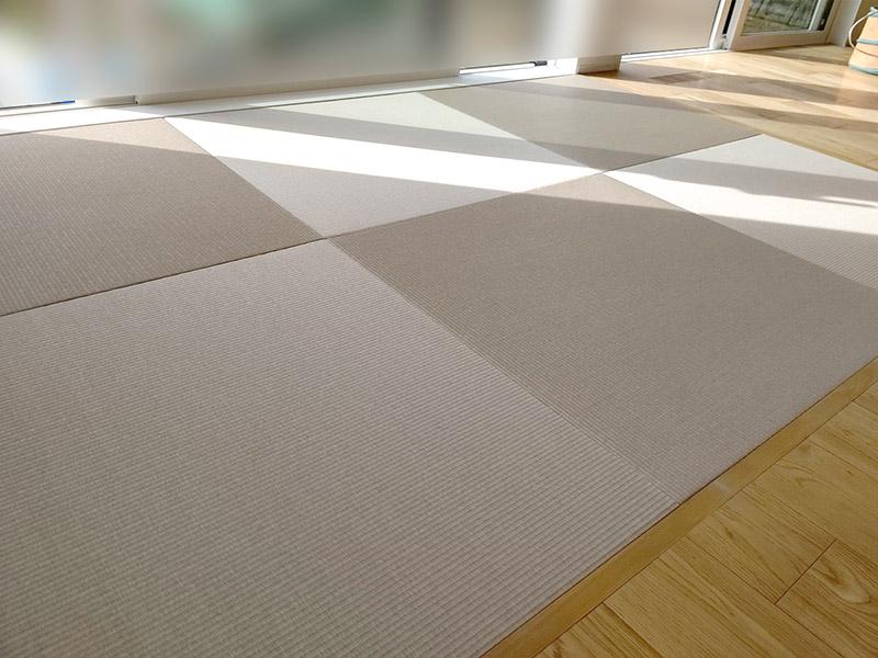 縁無しカラー畳工事事例 奈良中西たたみ店