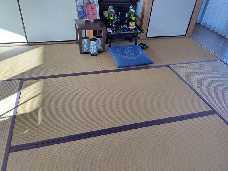 生駒市谷田町の畳張り替え工事前 中西たたみ店