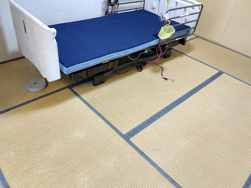 生駒市介護ベッドたたみ張替え前 中西たたみ店